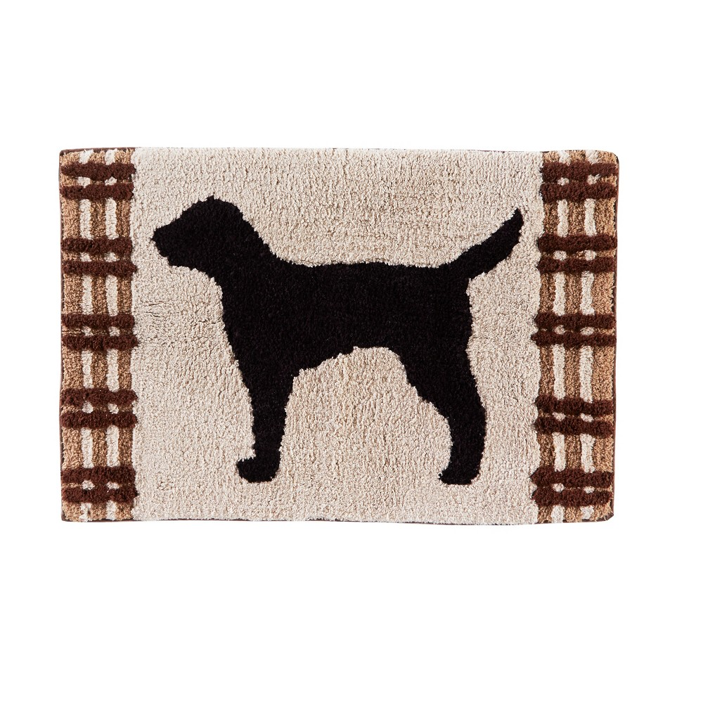 "Image of ""20"""" x 30"""" Adirondack Dogs bath rugs and mats Beige - Saturday Knight Ltd."""