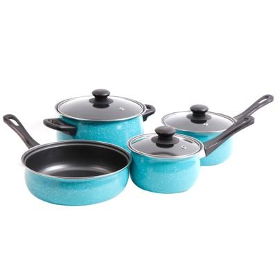 Casselman 7 Piece Cookware Set in Turquoise