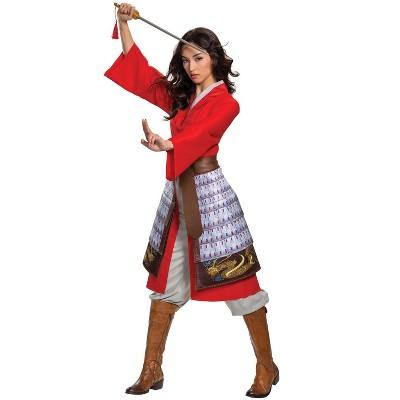 Mulan Mulan Hero Red Dress Deluxe Adult Costume