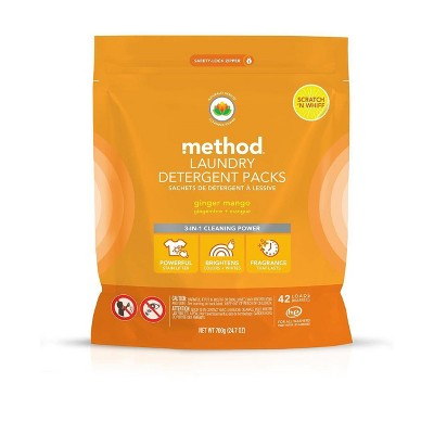 Method Ginger Mango Laundry Detegerent Packs - 42ct