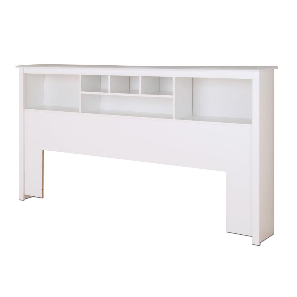 Bookcase Headboard King White - Prepac