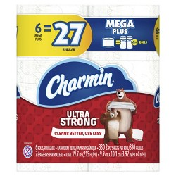 Charmin Ultra Strong Toilet Paper - 6 Mega Plus Rolls