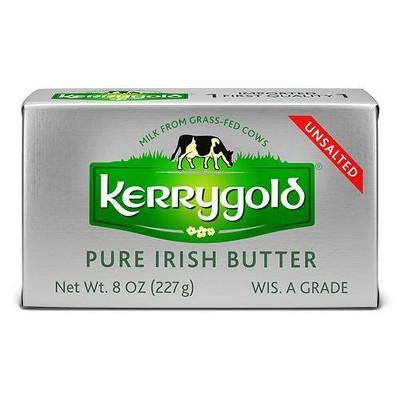 Kerrygold Grass-Fed Pure Irish Unsalted Butter - 8oz Foil