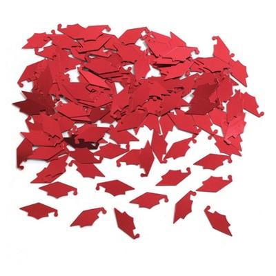 Graduation Mortarboard Red Confetti