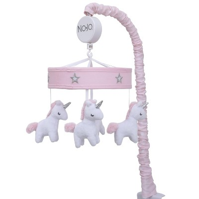NoJo Unicorn Embroidered Musical Mobile