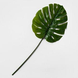 "40"" Artificial Monstera Leaf Stem Green - Threshold™"