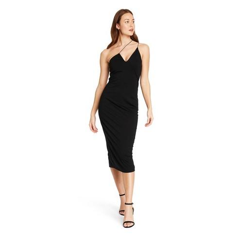 Women's Asymmetrical Dress - CUSHNIE for Target (Regular & Plus) Black - image 1 of 4