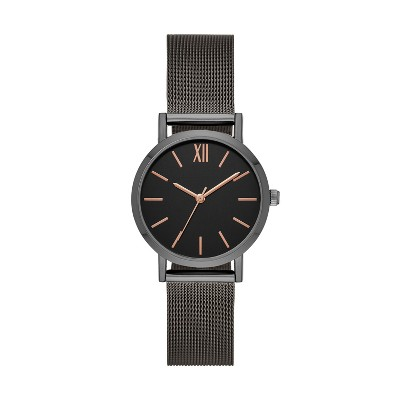 Women's Roman Mesh Strap Watch - A New Day™ Gray