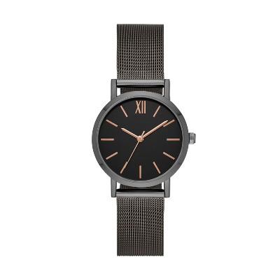 Women's Roman Mesh Strap Watch - A New Day™ Gray
