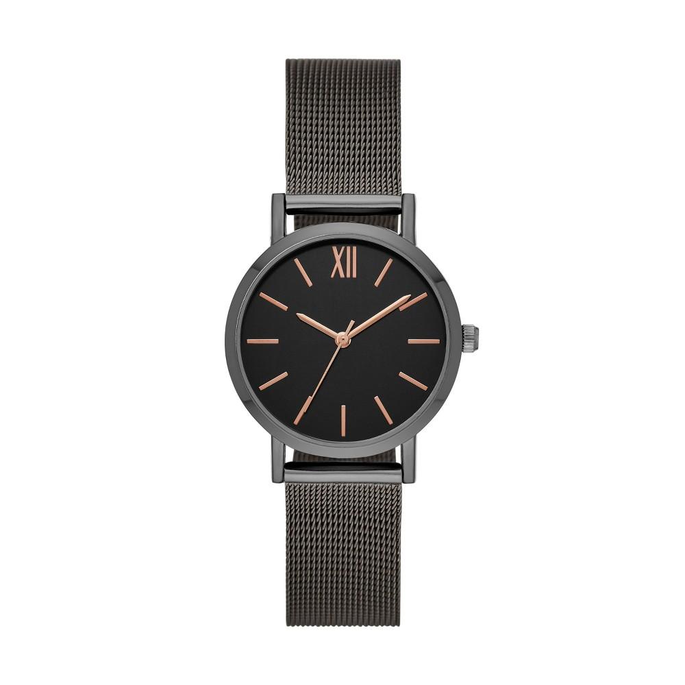 Women's Roman Mesh Strap Watch - A New Day Gray