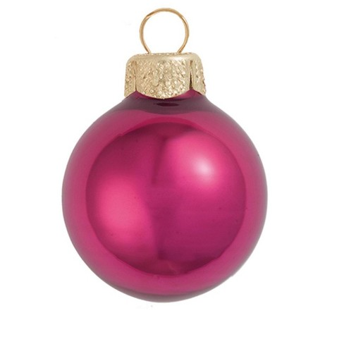 "Northlight 12ct Pearl Glass Ball Christmas Ornament Set 2.75"" - Pink Berry - image 1 of 1"