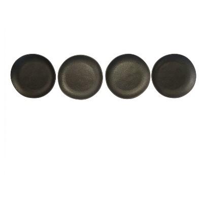 Appetizer Plates Stoneware Set of 4 - Black - Smith & Hawken™