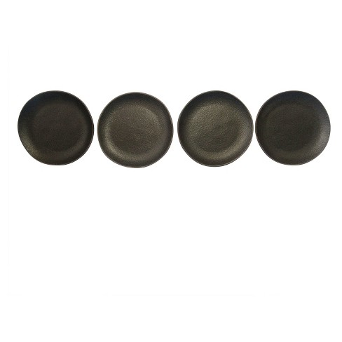 Appetizer Plates Stoneware Set of 4 - Black - Smith & Hawken™ - image 1 of 1