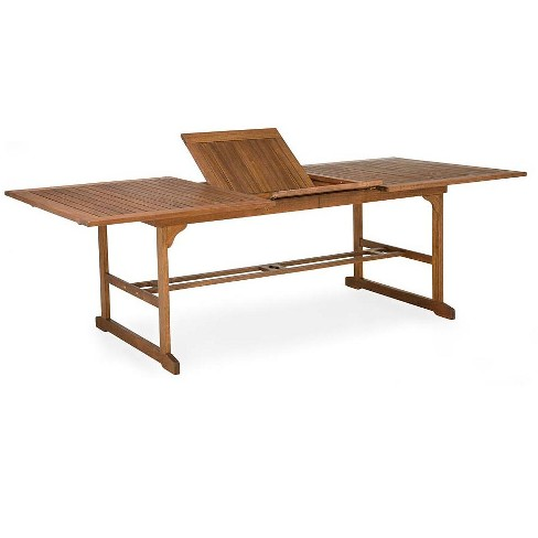 Lancaster Extension Table Patio Dining Made Of Eucalyptus Wood Plow Hearth Target