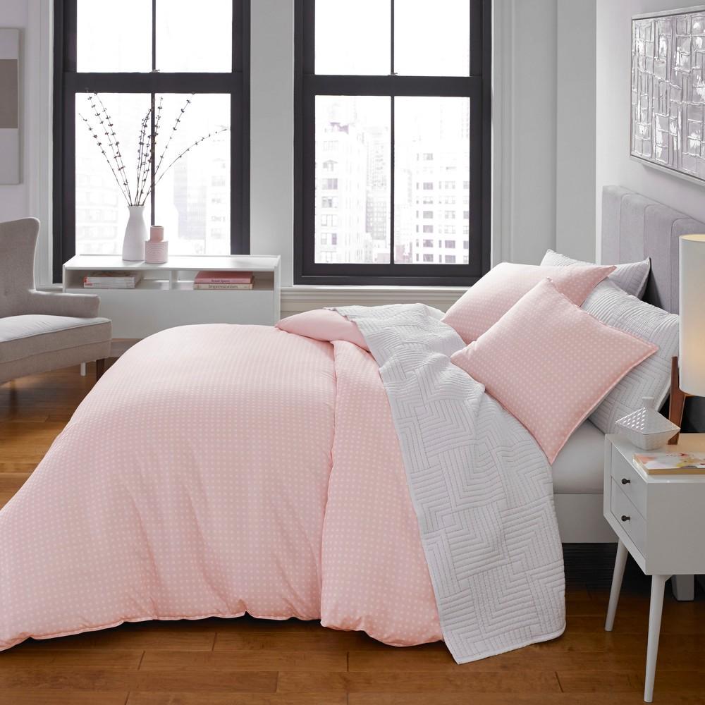 Twin Pink Penelope Comforter Set - City Scene