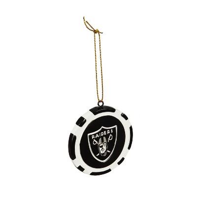 Evergreen Game Chip Ornament, Las Vegas Raiders