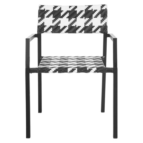 Stupendous Sardina 2Pk Wicker Patio Chair Set Black White Safavieh Gmtry Best Dining Table And Chair Ideas Images Gmtryco