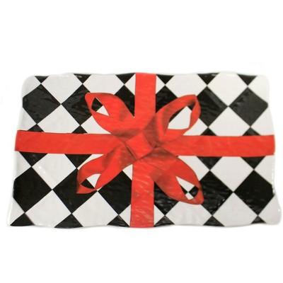 """Tabletop 11.25"""" Rectangular Harlequin Platter Christmas Dinner K & K Interiors  -  Serving Platters"""