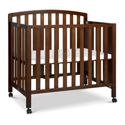 DaVinci Dylan Folding Portable 3-in-1 Mini Crib and Twin Bed - Espresso