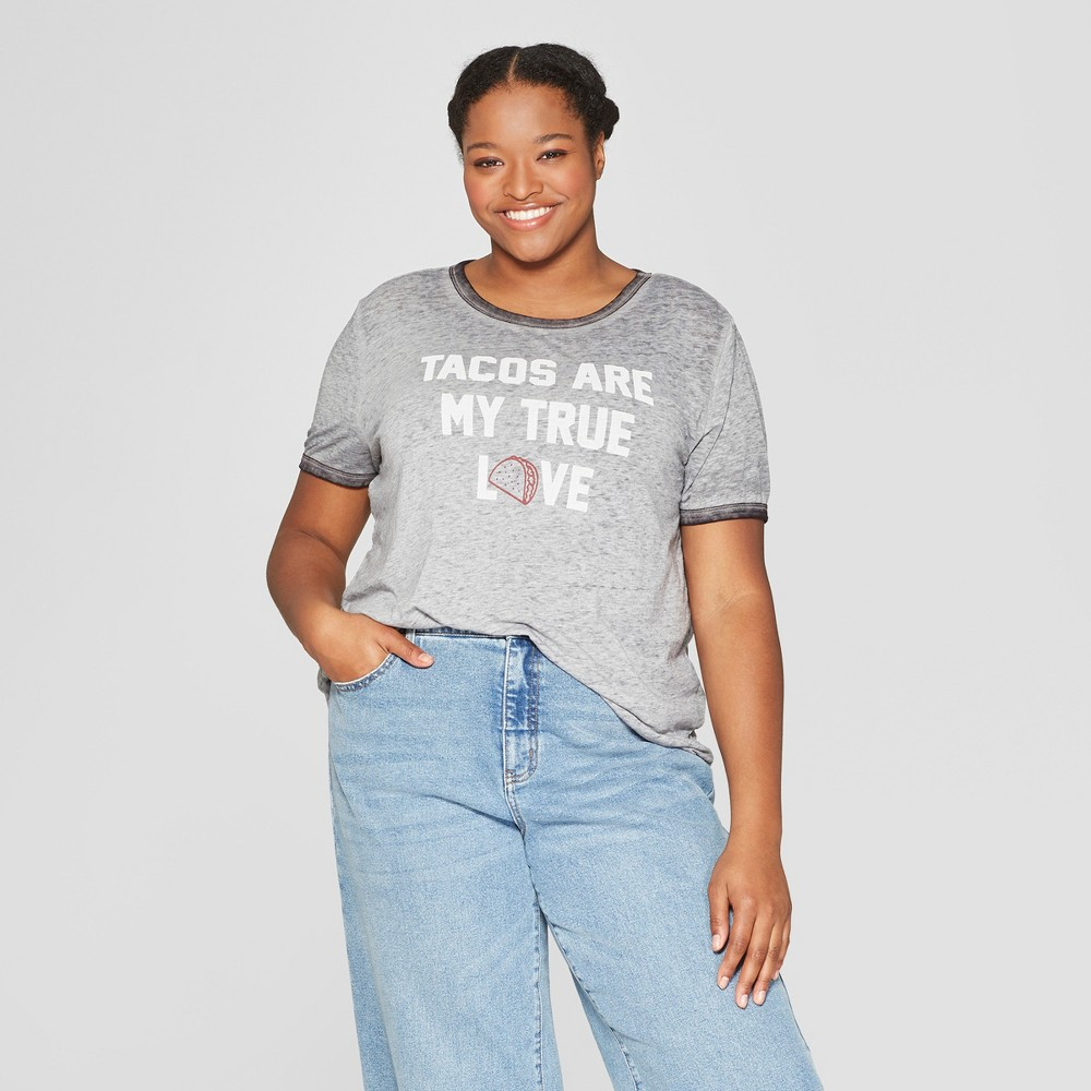 Women's Plus Size Short Sleeve T-Shirt - Zoe+Liv (Juniors') Gray 1X Women's Plus Size Short Sleeve T-Shirt - Zoe+Liv (Juniors') Gray 1X Gender: Female. Age Group: Adult. Pattern: Quote. Material: Cotton.