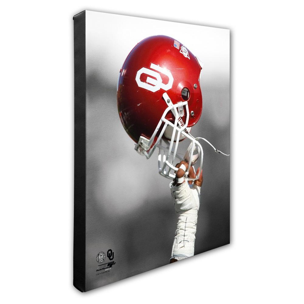 University of Oklahoma Sooners Helmet Canvas Wall Art - 16x20 inches