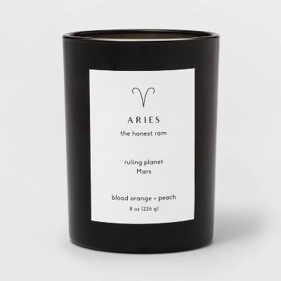 8oz Glass Jar Zodiac Candles Black - Project 62™