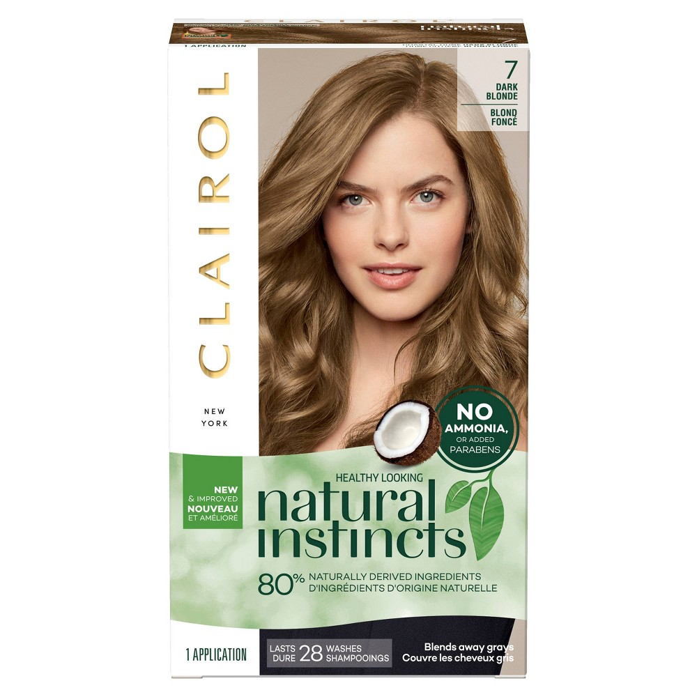 Natural Instincts Clairol Semi-Permanent Hair Color - 7 Dark Blonde - 1 Kit, 7-Dark Blonde