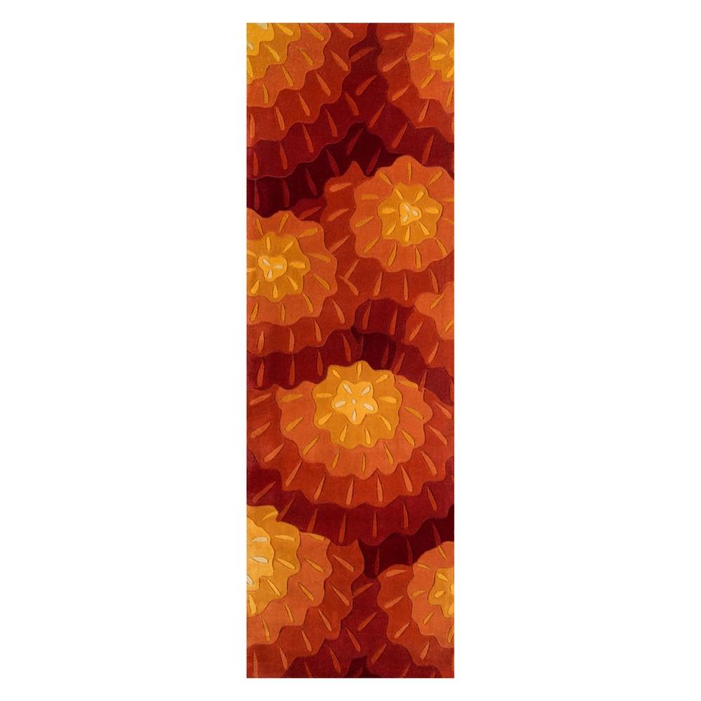 2'6X8' Shapes Tufted Runner Orange - Momeni