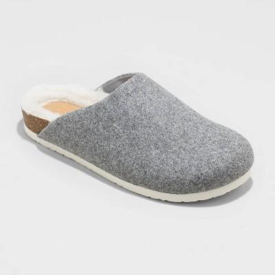 Women's Bev with Fur Mules - Universal Thread™ Gray