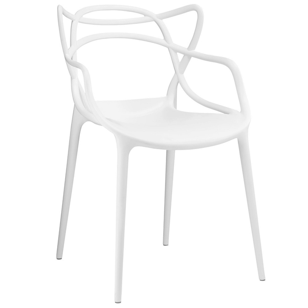 Entangled Dining Armchair White Modway