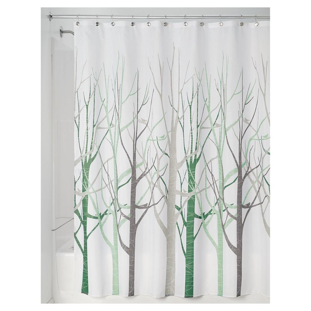 "Image of ""interDesign Forest Shower Curtains - Sage, Size: 72""""x72"""", Green/Brown"""