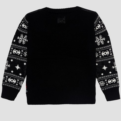Toddler Boys Star Wars Ugly Holiday Sweater Black Target