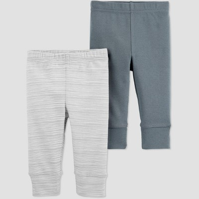 Baby Girls' 2pk Leggings - Just One You® made by carter's Gray 6M