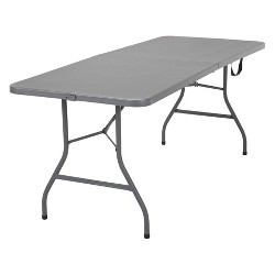 Cosco 6' Signature Series Foldable Table Gray