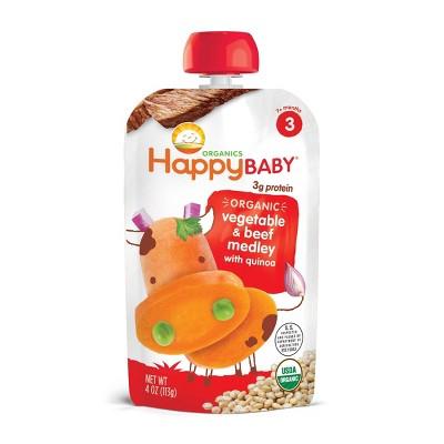 HappyBaby Organic Vegetable & Beef Medley with Quinoa Baby Food - 4oz