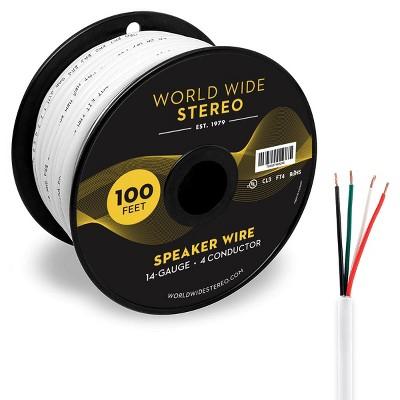 World Wide Stereo 14-Gauge, 4-Conductor Speaker Wire - 100 Feet