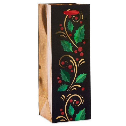 Papyrus Winter Holly Beverage Gift Bag - image 1 of 3