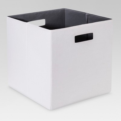 "13"" Fabric Cube Storage Bin White - Threshold™"