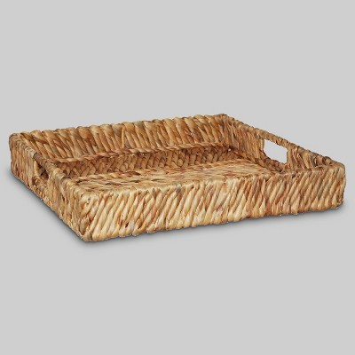 Water Hyacinth Woven Tray - Threshold™