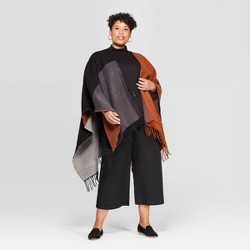 Women's Colorblock Ruana - A New Day™ One Size