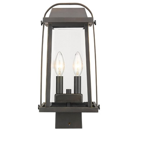 """Z-Lite 574PHMS Millworks 2 Light 15"""" Tall Outdoor Single Head Post Light - image 1 of 1"""