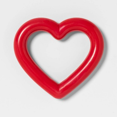 Rubber Heart shape Dog Toy - Red - Boots & Barkley™