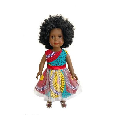 "Ikuzi Dolls Multi Colored Dress Doll with Black Hair 18"" Fashion Doll"