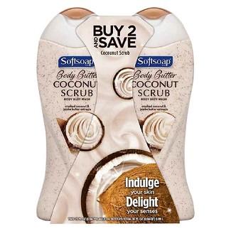 Softsoap Coconut Butter Exfoliating Body Wash - 15 fl oz/2pk