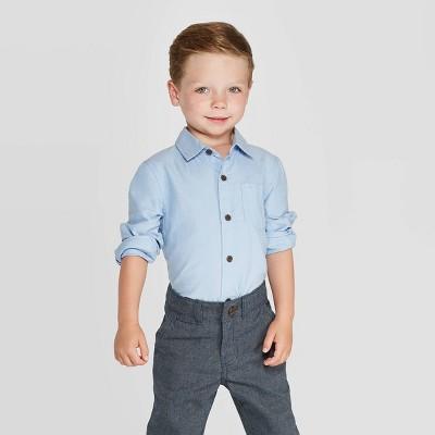 Toddler Boys' Long Sleeve Oxford Button-Down Shirt - Cat & Jack™