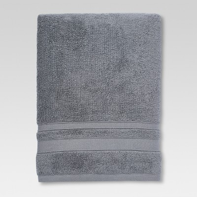 Performance Solid Texture Bath Sheet Dark Gray - Threshold™