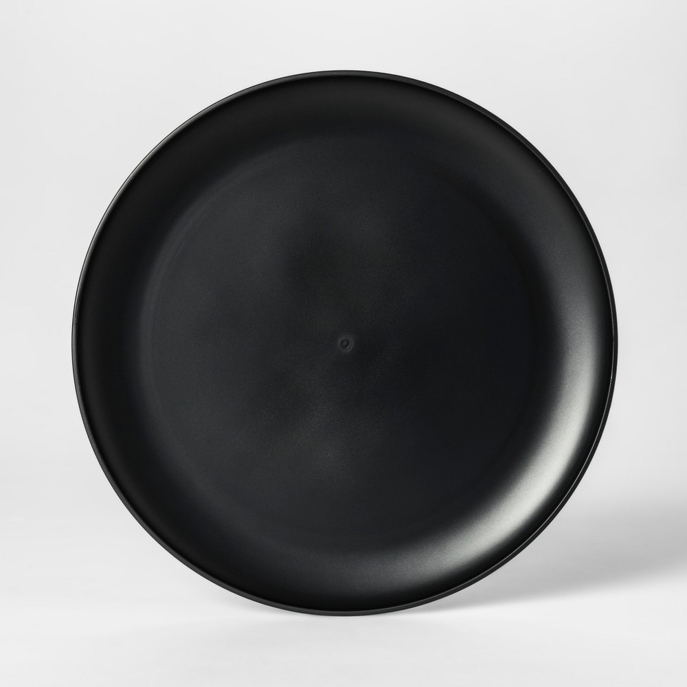 "Image of ""10.5"""" Plastic Dinner Plate Black - Room Essentials"""