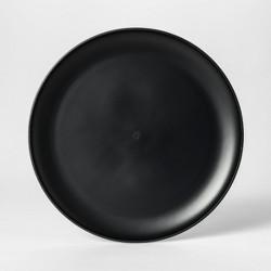 """10.5"""" Plastic Dinner Plate Black - Room Essentials™"""