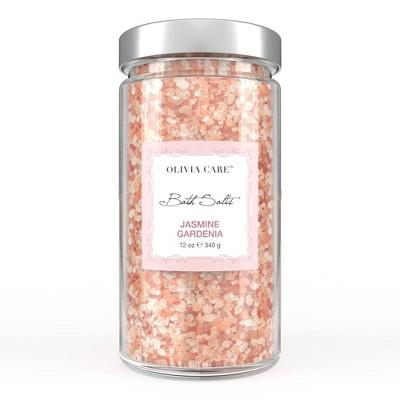 Olivia Care Jasmine Gardenia Bath Salts - 12oz