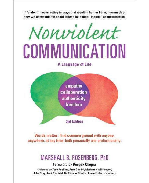 Nonviolent Communication : A Language of Life -  by Ph.D. Marshall B. Rosenberg (Paperback) - image 1 of 1